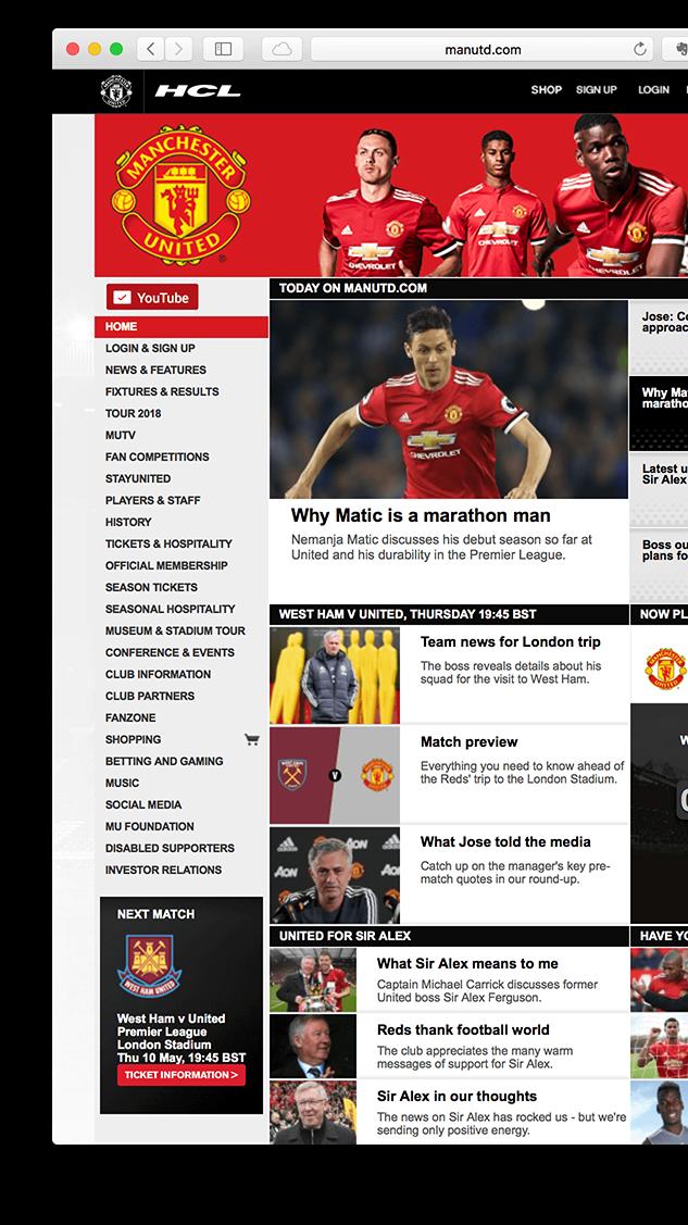 Mufc Homepage Screen